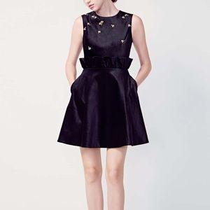 NWT Queen Bee Ruffle Waist Dress TED BAKER LONDON